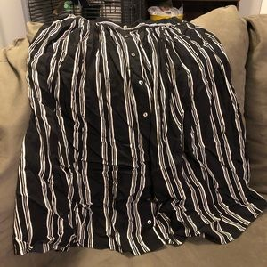 Contemporary Forever 21 Striped Midi Skirt Size S